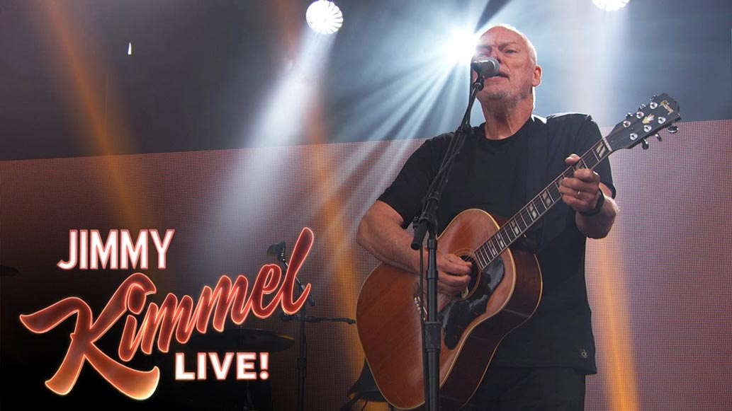 "Watch David Gilmour's New Live Video Performances on Kimmel (""Wish You Were Here"" and ""Rattle That Lock"")"