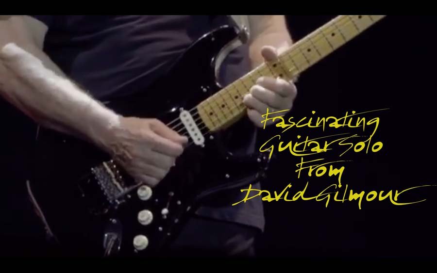 """Watch: David Gilmour – Live Guitar Solo of """"In Any Tongue"""""""