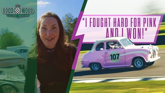 Nick Mason of Pink Floyd Sees His Daughter Racing Ridiculously Pink 34 HP Austin