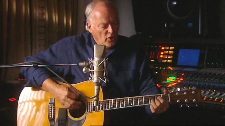 "Gilmour's Acoustic Take On This Pink Floyd Iconic Is So Gorgeous, You Might Forget To ""Breathe"""
