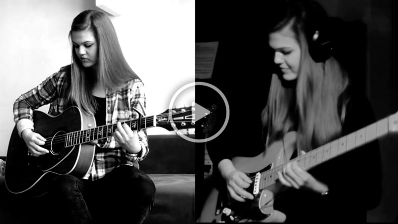 "Watch Pink Floyd – ""Wish You Were Here"" Guitar Rhythm and Solo Cover By Sylwia Urban"