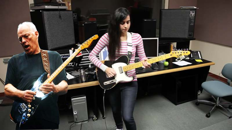 This Girl Plays 'Comfortably Numb' On Guitar And Manages To Sound Exactly Like David Gilmour