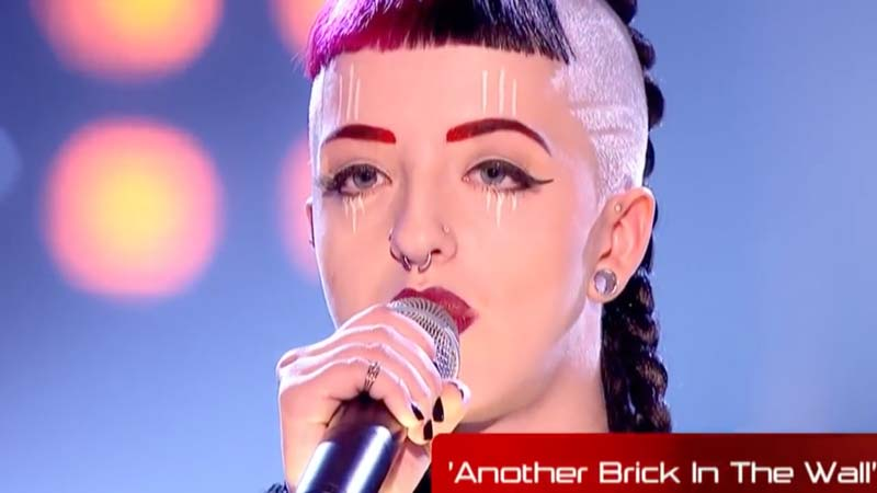 "Rocker Girl Sings ""Another Brick In The Wall"" On 'The Voice' And Every Judge Hits Their Button Simultaneously!"