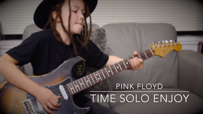 Watch This Nine-year-old Guitarist Plays Pink Floyd's Time, Exactly Like David Gilmour